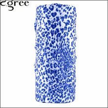 C.gree Fashion Style Seamless Bandanas Blue Leopard Bicycle Motorcycle Riding Variety Turban Magic Headband Head Scarf 227