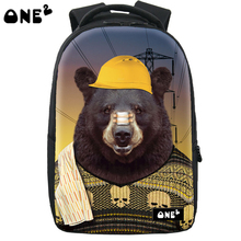 ONE2 Design grizzlies pattern backpack brand new design laptop backpack high school students teenager boys girls kid children