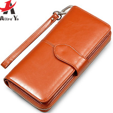Atrra-Yo ! wallets women wallet dollar price leather purse high quality wallets brands purse female pouch bolsas LS4917ay