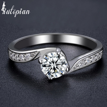 Iutopian Brand Elegant Engagement Rings Anels For Women With Top Quality CZ Top Quality Size 6,7,8,9 Gift #80653