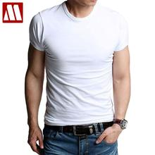 Men's t-shirts stretch cotton Tees Man causal T shirt Male clothing causal undershirts O-neck active short tshirts Promotion(China)