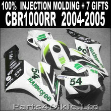 Hot sale injection mold for HONDA 2004 2005 cbr1000rr fairings white black green HANNSPREE fairing CBR 1000 RR 04 05 JFB85