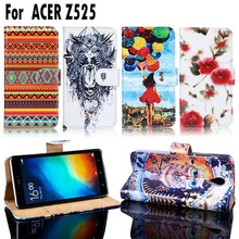 PU Leather Cell Phone Cases For Acer Liquid Zest Z525 Z528 Housing Covers Bags For Acer Liquid Zest Z525 Wallet Slot Shell Cover