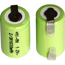 10Pieces/lot Original New 1.2V 2/3A 1600mAh Ni-Mh 2/3A Ni-Mh Rechargeable Battery With Pins Free Shipping(China)