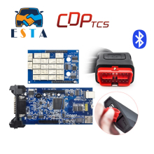 New vci CDP tcs pro tcs cdp plus Bluetooth 2014.R2/2015.03 with keygen OBD2 scanner cars trucks diagnostic tool free shipping(China)