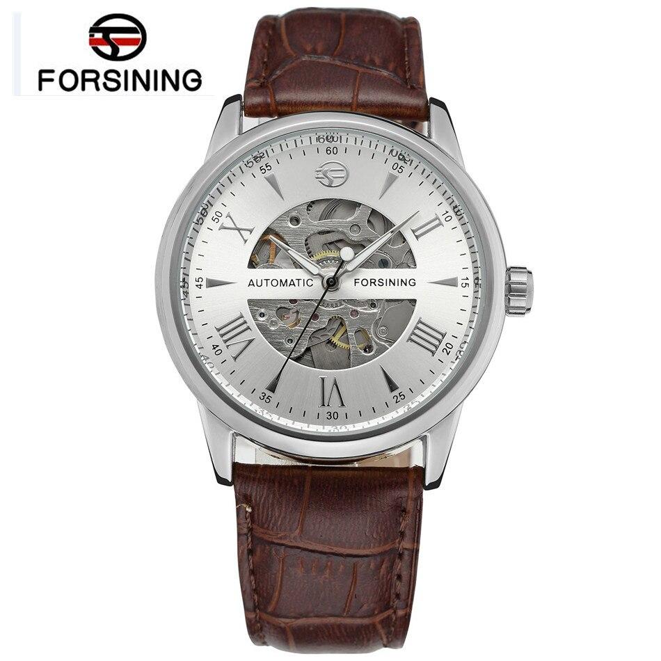 Forsining Luxury Watch Erkek Kol Saati Mens Automatic Skeleton Mechanical Auto Wristwatch Free Ship<br><br>Aliexpress