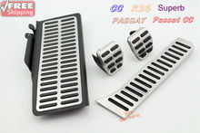 Car Styling Set of 4 pcs Pedal Cover Fits  Passat B6/ B7  CC Passat CC SKODA SuperB MT Manual Transmission Free shipping