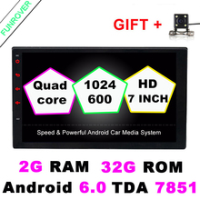 "7"" 2g+32g Auto Radio 2 Din Android 6.0 Car Dvd Player Universal Quad Core 7""gps Navigation Video Wifi Bt Stereos Full Touch(China)"