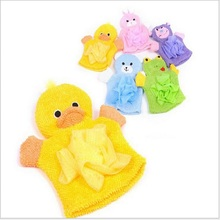 1 PCS 5 Colors Cute Children Baby shower bathing bath towel Animals Style Shower Wash Cloth Towels(China)