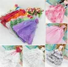 10Pcs Hot Sale Party Wedding Dress Princess Gown Dress Clothes Gown For Barbie doll Accessories