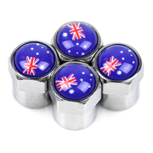 Car wheel Motorcycle Chrome Metal Wheel Tire Valve Caps case for holden ssangyong Great Wall BYD Volvo emgrand emblem Australia