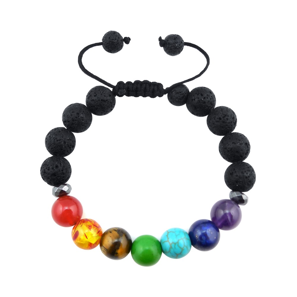 ZP-BS379-2 Lava Chakra Diffuser Bracelet