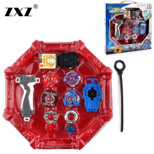 4pcs/set Beyblade arena stadium Metal Fusion B-34 B-59 4D Battle Metal Top Fury Masters launcher grip children christmas toy(China)