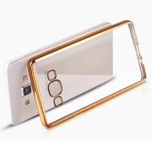Phone Case For Samsung Galaxy A3 A5 A7 2015 A 3 5 7 2016 Duos Cover Plating Edge Fundas Soft TPU Silicon Transparent Casing Capa