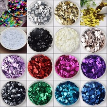 2500pcs 6mm silver-based colors PVC round cup loose sequins Paillettes sewing wedding Craft ,Women Garment Diy Accessories(China)