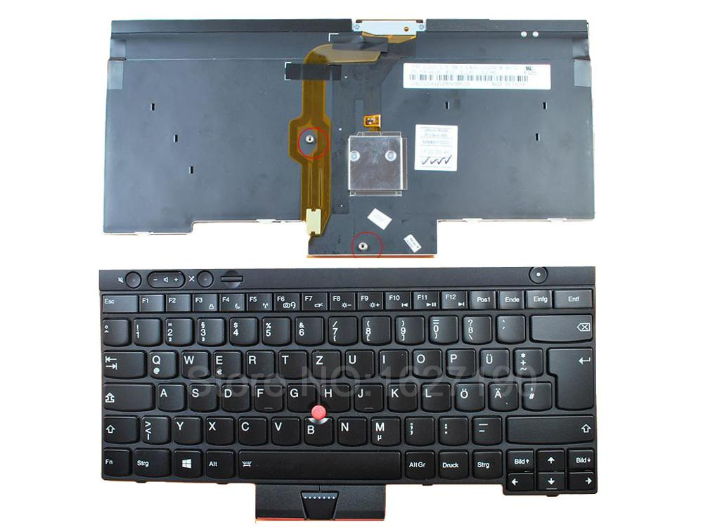New GR/German Laptop Keyboard for ThinkPad T430 T530 X230 BLACK (Backlit For Win8) Repair Notebook Replacement<br>