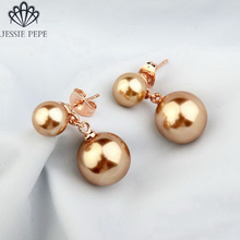 Jessie Pepe Italina Elegant Simulated Pearl Earrings Brincos joias de perola Welcome Wholesale Top Quality Free Shipping#JP87092(China)