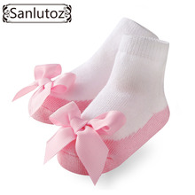 Sanlutoz Baby Socks Infant Socks for Girls Newborns Socks for Princess Holiday Birthday Gifts for Baby Girls Fashion 0-12 Months(China)