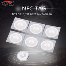 5YOA 100pcs NFC NTAG215 Tags Chip Stickers Tag For TagMo Dia.25mm Lable Forum Type2 Sticker NFC Phone(China)