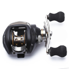 New Sale High Quality Durable Baitcasting Stainless Plastic Fishing Reel Ball Bearing Hand 11+1 BB Black Left Handle