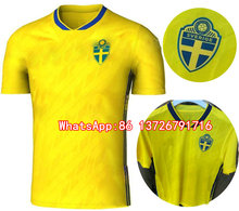 2018 World Cup Sweden Jersey Soccer Sweden Team National IBRAHIMOVIC KALLSTROM away Football shirt 17 18 TOP thai Quality