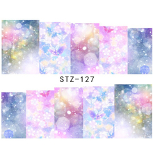 1 sheet Fashion Beauty Nail Water Transfer Stickers Polish Manicure Decor Tools DIY Beauty Watermark Nail Decals LASTZ127