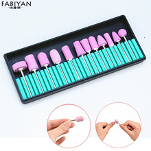 12Pcs Stainless Steel Ceramic Electric Machine Drill Bits File Nail Art Polishing Grinding Head Manicure Pedicure Tools Set Pro