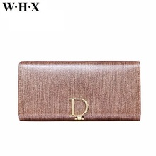 WHX Genuine Leather Skin Wallets Women Wallet Fashion Female Wallets Lady Purse Long Pocketbook Billfold Card Clutch Money Bags(China)