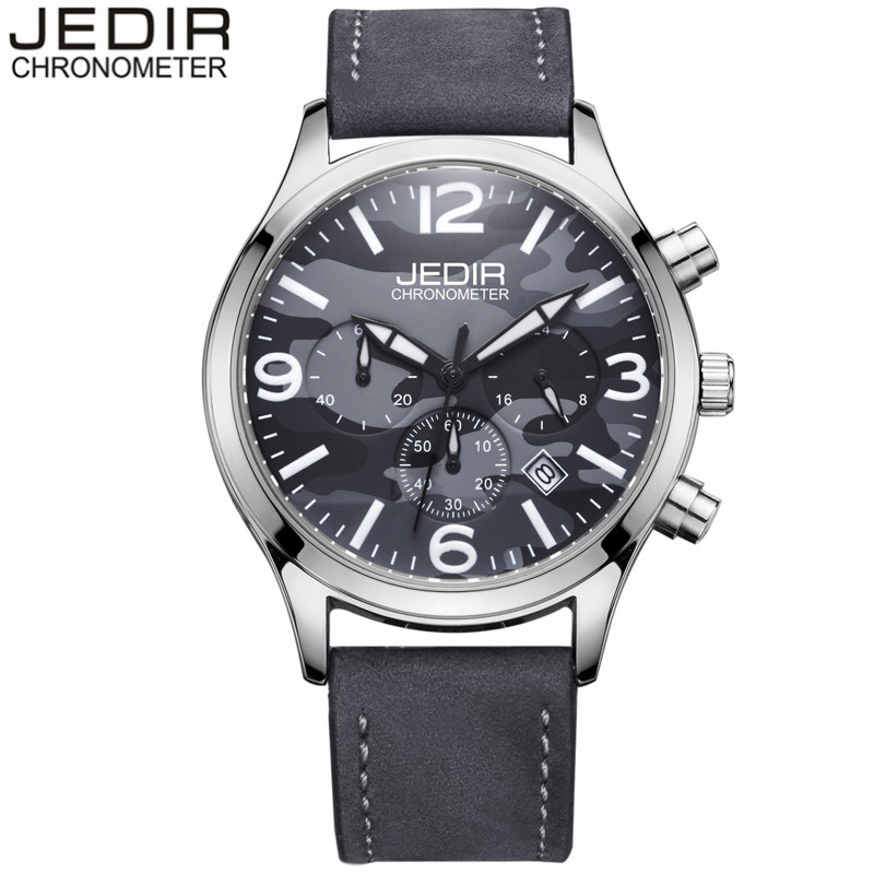 reloj hombre 2017 JEDIR Brand Military Watches Men Luxury Sport Quartz Watch Chronograph Luminous Wristwatch relogio masculino<br><br>Aliexpress