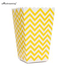 Popcorn Box Pop Corn Scoop Yellow Chevron Popcorn Box Popcorn Bar Sunshine 1st Birthday Party Lemon Wedding Favors Summer Party