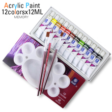 High Quality Acrylic Paints Tube Set Nail Art Painting Drawing Tool For The Artists 12ML 12 Colors offer paint brushes for free(China)