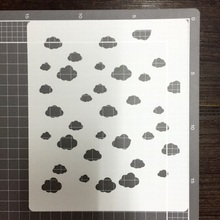 Cloud Scrapbooking card DIY album masking spray painted template drawing stencils laser cut template AP7051038