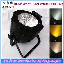 Free Shipping DMX Stage Wash COB Par64 Light 100W Cold white & Warm White 2In1 Indoor LED COB PAR Light For Stage Background(China)