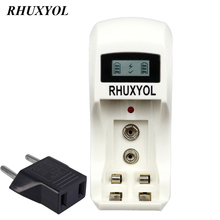 RHUXYOL LCD Display Smart Intelligent quick fast Battery Charger For 1.2V AA AAA NiCd NiMh 9V 6F22 Rechargeable Batteries