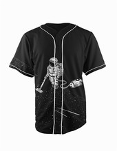 Real American Size  space cleaning 3D Sublimation Print Custom made Button up baseball jersey plus size