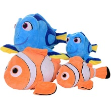 2016 Movie Finding Dory Plush Fish Toys Clown Fish Nemo Stuffed Animals Toys Plush Brinquedos 3 Sizes For Choose KF026