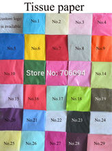 50x70cm,100sheets/lot,colorful single copy tissue paper / wine,shirt,bag,shoes wrapping paper /gift packing material(China)