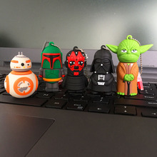 Star Wars Cartoon USB Pen drive Star wars darth vader 4GB/8GB/16GB/32GB usb flash drive flash memory stick pendrive U disk(China)