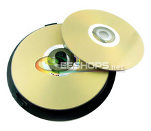 New 4.7GB 16X DVD+R Lightscribe Recordable Printable Rewritable Gold Blank DVD DVDs Discs 25-Disc Spindle Package Drive Case