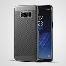 Luxury brand ultra thin New grid back cover for samsung galaxy s8 case for s8 plus original accessories(China)