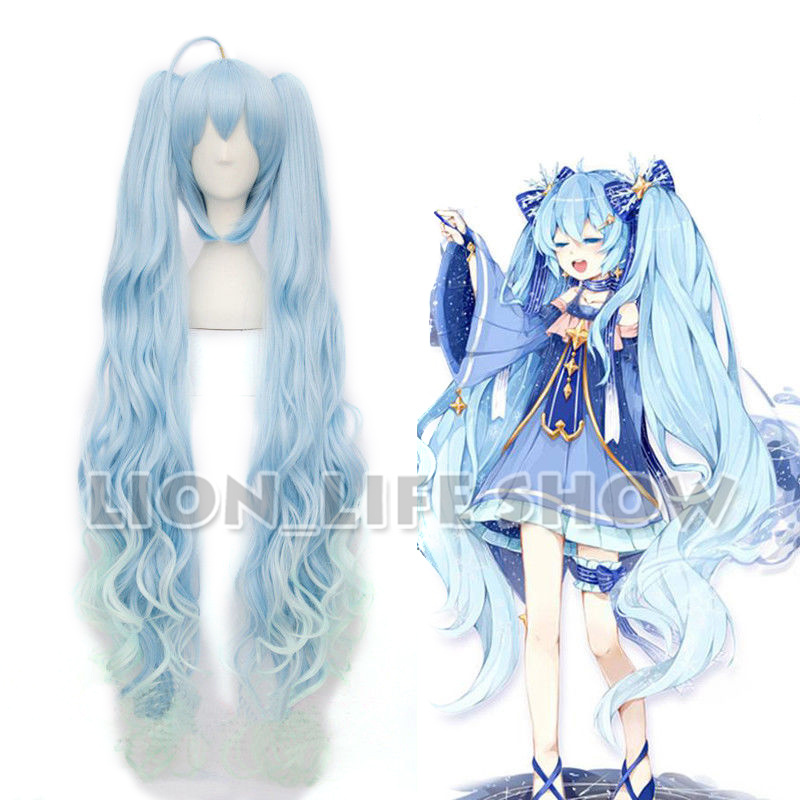 VOCALOID 2017 Snow Miku Hatsune Star Princess Dress Fancy Cosplay Costume Outfit
