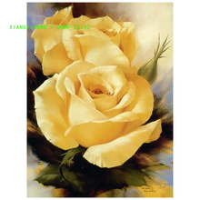 Yellow Rose Picture Pattern Diamond Embroidery DIY Needlework Diamond Painting Cross Stitch Full Drill XIANGYUANWU'S SHOP-ZBYXZ
