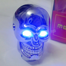 Wholesale Universal Skull Gear Shift Knob lever Stick Lighted Gears Rally Racing Shifter for Manual Transmission Blue Eyes
