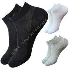 10Pair Black/White/Gray 3 Color Men Socks Male Summer Casual Short Breathable Cotton Ankle Socks Men Brand Dress Business Socks