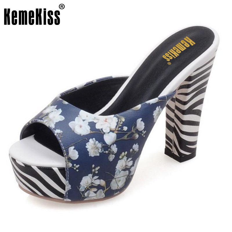 KemeKiss sexy high heels shoes women open toe party woman fashion zebra stripes shoes heeled pumps shoes size 32-42 PC00041<br>