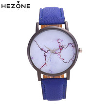 HEZONE World Map Watches Ladies Men Vintage Leather Wristwatch Female Watch Blue Clock Casual Quartz Women's Watches Relogio(China)