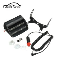 Autoleader 1Set 18 LEDs Emergency Vehicle Strobe Lights Windshields Dashboard Flash Warning For Truck Ambulance SUV 5W 12V