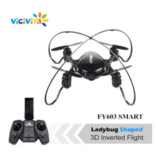 VICIVIYA FY603 SMART Mini Drone with Camera Wifi FPV Quadcopter 4CH RTF RC Helicopter Drone GYRO Headless Mode Altitude Hold ^