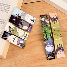 Free Shipping 6 pcs/lot Cute Kawaii Totoro Doraemon Paper Bookmarks Magnetic Cartoon Anime Book Markers Korean Stationery 3065(China)