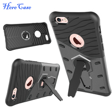 HereCase PC+ Rubber Shockproof Armor 360 rotating Stand Case Anti-scratch Protective Cover For iPhone6 7 Plus Top Mount Tripod(China)